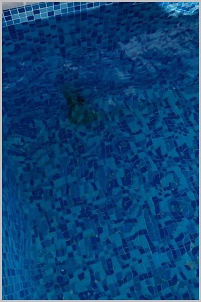 Mancha de óxido en piscina